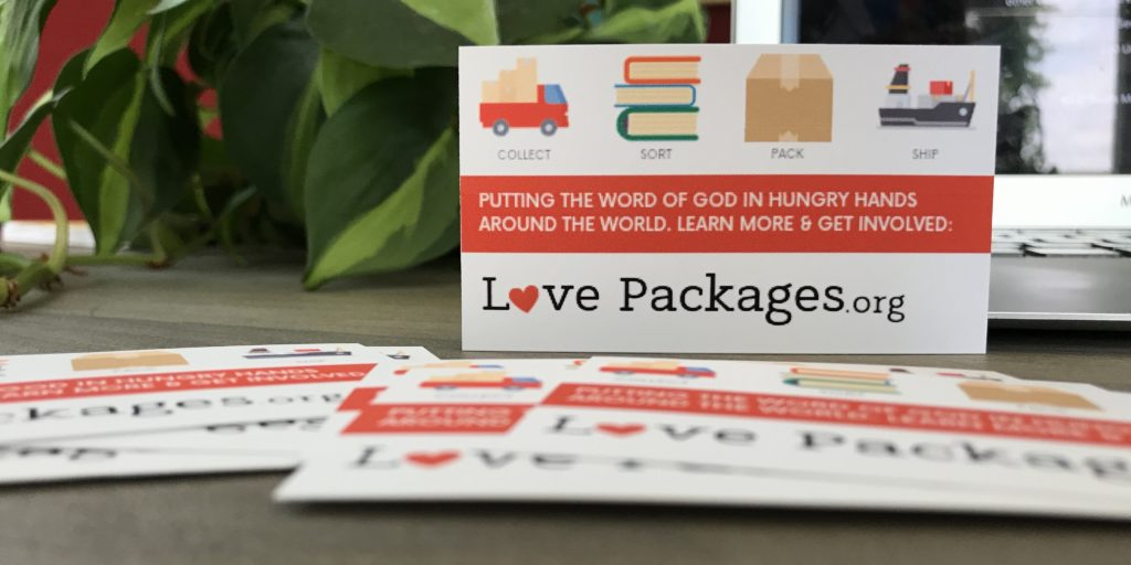bible donation ministry cards